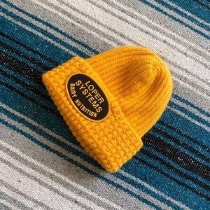 Vtg thick yellow beanie